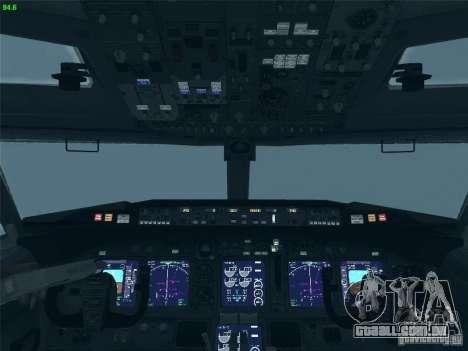Boeing 737 Iron Man Bussines Jet para GTA San Andreas vista superior