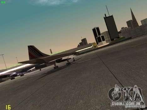 Aerospatiale-BAC Concorde Air France para GTA San Andreas vista traseira