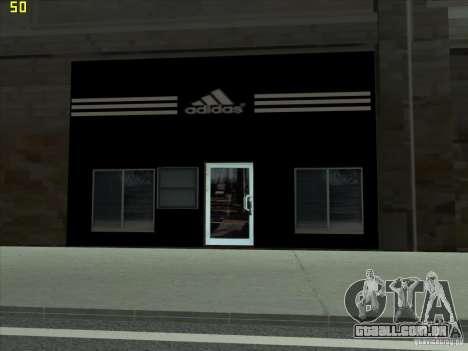 Substituição completa da loja Binco Adidas para GTA San Andreas segunda tela
