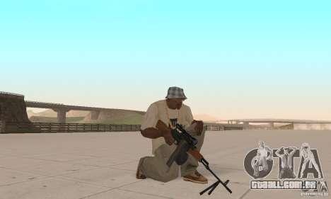 A metralhadora portátil Kalashnikov para GTA San Andreas terceira tela