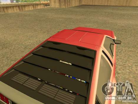 DeLorean DMC-12 V8 para GTA San Andreas traseira esquerda vista
