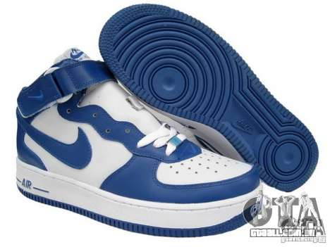 Blue Nike Air Force para GTA San Andreas