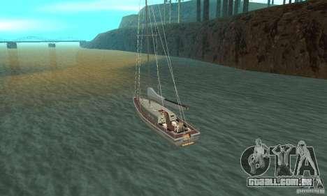 Marquis Segelyacht 09 Textures para GTA San Andreas traseira esquerda vista