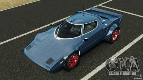 Lancia Stratos v1.1 para GTA 4 vista superior