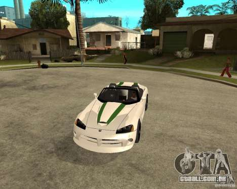 Dodge Viper SRT-10 para GTA San Andreas vista interior