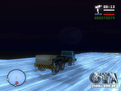 Split Second - Static Truck para GTA San Andreas vista direita