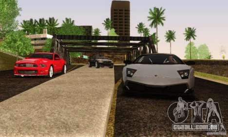 Lamborghini Murcielago LP 670-4 SV para GTA San Andreas vista traseira
