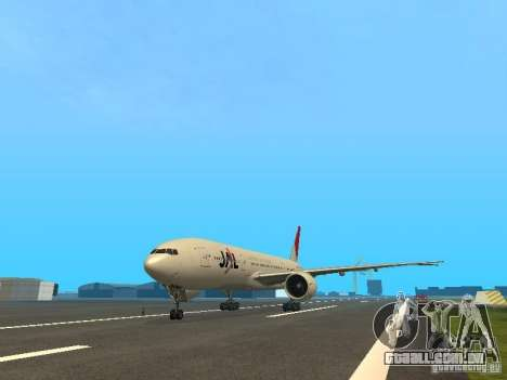Boeing 777-200 Japan Airlines para GTA San Andreas