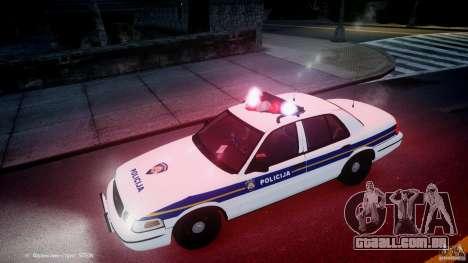 Ford Crown Victoria Croatian Police Unit para GTA 4 motor
