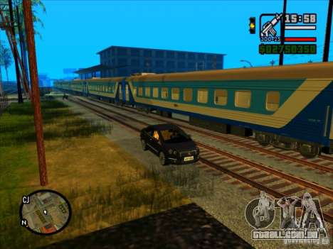 Trem longo para GTA San Andreas por diante tela