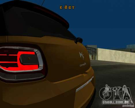Citroen DS3 2011 para GTA San Andreas esquerda vista