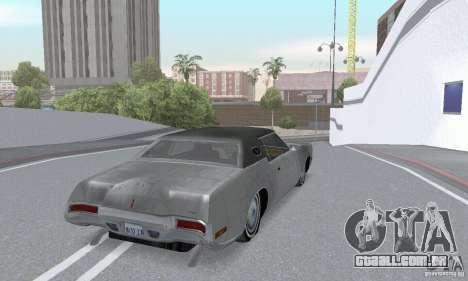Lincoln Continental Mark IV 1972 para vista lateral GTA San Andreas