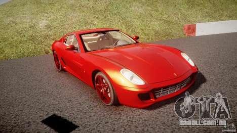 Ferrari 599 GTB Fiorano 2006 (Beta) para GTA 4 vista de volta