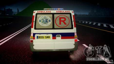 Ford Transit Polish Ambulance [ELS] para GTA 4 vista inferior