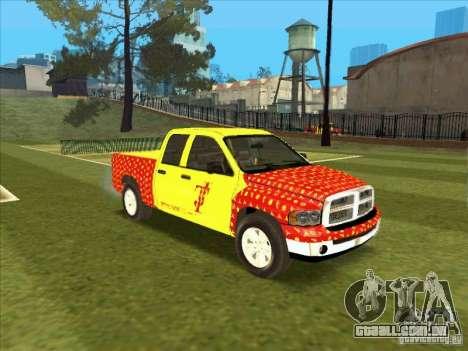 Tej Dodge RAM 2 Fast 2 Furious para GTA San Andreas esquerda vista