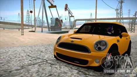 MINI Cooper Clubman JCW 2011 para GTA San Andreas vista interior