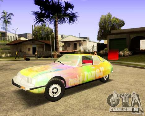 Citroen SM 1971 para vista lateral GTA San Andreas