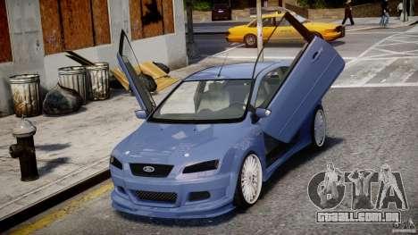 Ford Focus ST (X-tuning) para GTA 4 vista lateral
