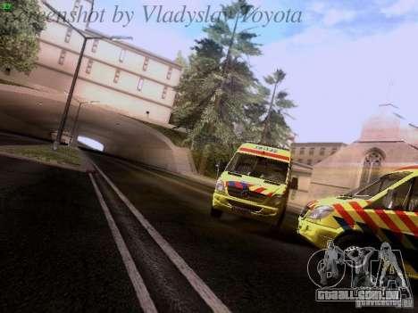Mercedes-Benz Sprinter Ambulance para GTA San Andreas vista traseira