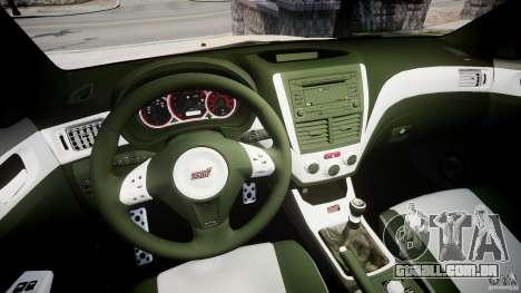 Subaru Impreza WRX STi 2009 para GTA 4 vista de volta
