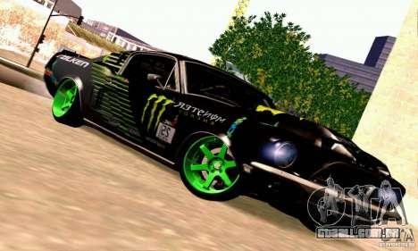 Shelby GT500 Monster Drift para GTA San Andreas vista traseira