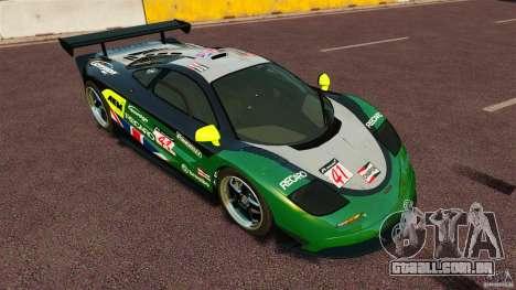 McLaren F1 para GTA 4 vista direita