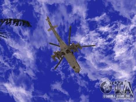 Mi-24 de COD MW 2 para GTA San Andreas vista direita