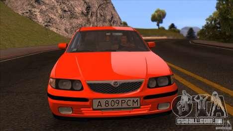 Mazda 626 Stock para GTA San Andreas vista direita