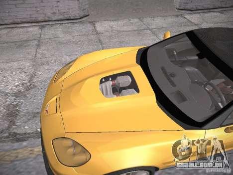 Chevrolet Corvette ZR1 para GTA San Andreas vista superior