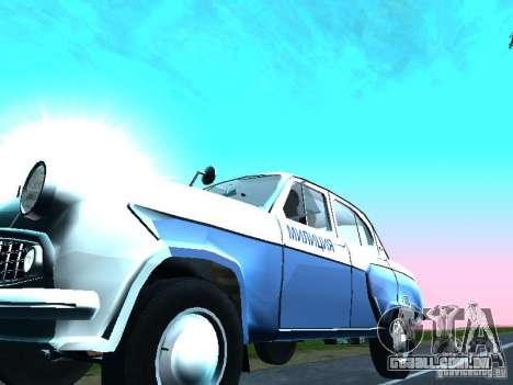 Moskvitch 403 com polícia para GTA San Andreas vista interior