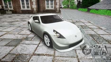 Nissan 370Z Nismo v1 para GTA 4 vista de volta
