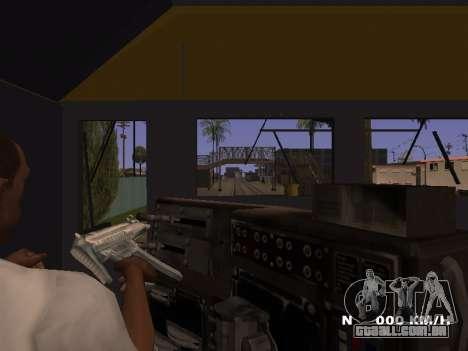 SD 40 UP BN Santa Fe para GTA San Andreas vista traseira