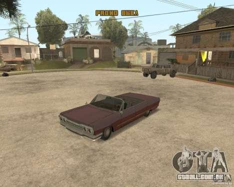 Extreme Car Mod (Single Player) para GTA San Andreas por diante tela