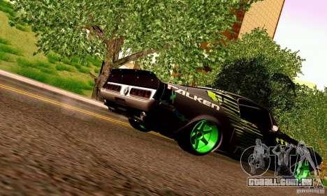 Shelby GT500 Monster Drift para GTA San Andreas vista inferior