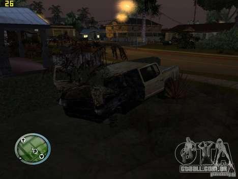 Carros quebrados na Grove Street para GTA San Andreas