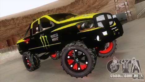 Dodge Ram 4x4 para GTA San Andreas vista traseira