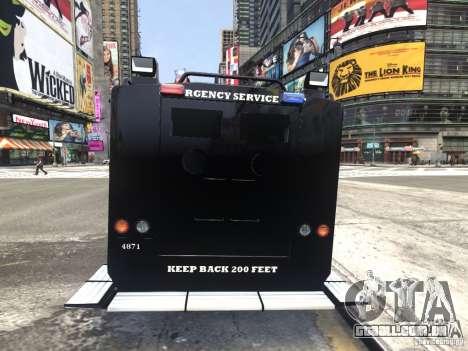 Lenco BearCat NYPD ESU V.1 para GTA 4 traseira esquerda vista