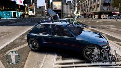 Peugeot 205 para GTA 4 traseira esquerda vista