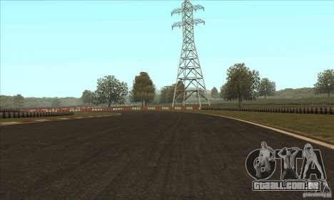 Faixa GOKART rota 2 para GTA San Andreas por diante tela