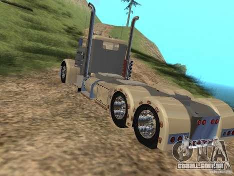 Pimped Peterbilt 381 para GTA San Andreas traseira esquerda vista