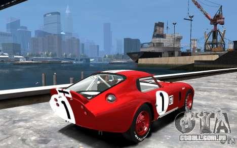 Shelby Cobra Daytona Coupe 1965 para GTA 4 vista direita