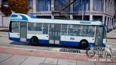 DAF Berkhof City Bus Amsterdam para GTA 4 esquerda vista