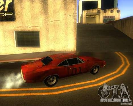 Dodge Charger RT 1969 para GTA San Andreas vista traseira