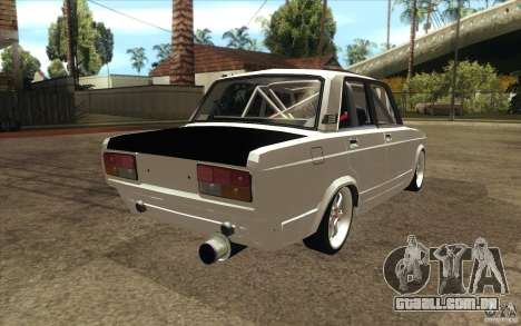 Drift Vaz Lada 2107 para vista lateral GTA San Andreas