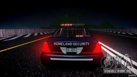 Ford Crown Victoria Homeland Security [ELS] para GTA 4 vista inferior