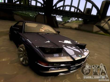 BMW 850 CSI para GTA San Andreas vista inferior