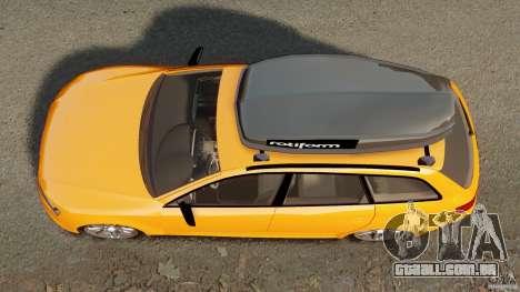 Audi A6 Avant Stanced 2012 v2.0 para GTA 4 vista direita