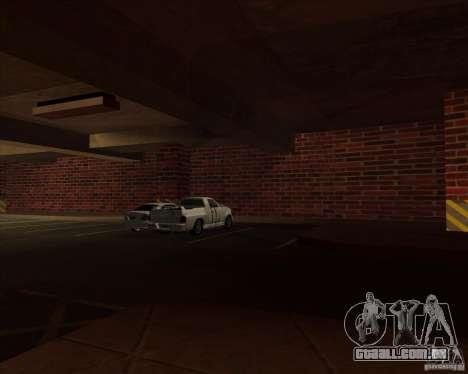 Polícia de garagem novo LSPD para GTA San Andreas por diante tela