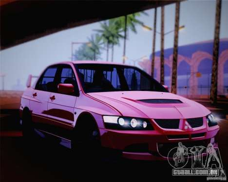 Mitsubishi Lancer EVO VIII MR 2004 para GTA San Andreas vista superior