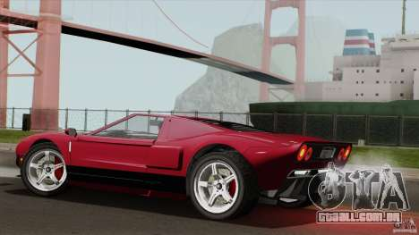 Bullet GT from TBOGT para GTA San Andreas esquerda vista